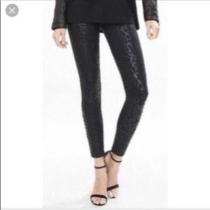 Express black cheetah leggings
